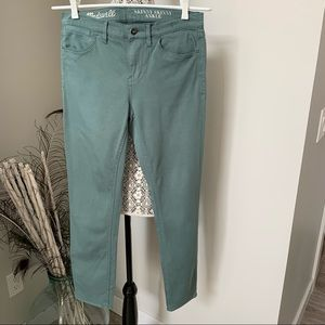 MADEWELL Skinny Skinny Ankle Jeans Green Size 28